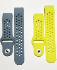 GRAY NEON 2PK Small Wristband Bracelet Band Strap For FITBIT CHARGE 2