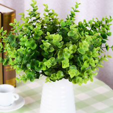 Artificial Large Leaves Green Plant 7 Branches Eucalyptus Grass Home Decoration