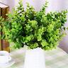 künstlich groß Blätter grün Pflanze 7 Zweige Eukalyptus Gras Wohndeko