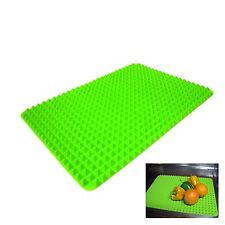 New Green Silicone Roll Sink Drainboard Dish Tray Silicone Mat Kitchen Organizer
