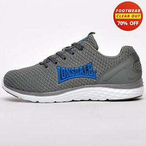 Lonsdale Silwick Ultraknit Mens Running Shoes Gym Fitness Workout Trainers Grey