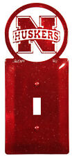 SWEN Products NEBRASKA HUSKERS GO BIG RED Light Switch Plate Covers