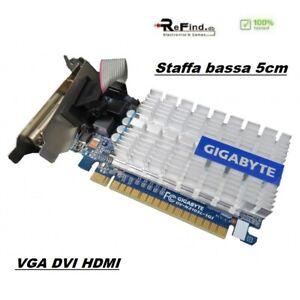 SCHEDA VIDEO GRAFICA PCI EXPRESS NVIDIA GEFORCE 210 1GB VGA DVI HDMI SSF