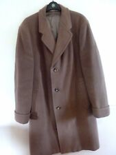 "Vintage 1950s Austin Reed camel Crombie wool men's overcoat size 42"" chest"