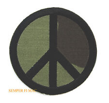 CAMOFLAUGE PEACE SIGN HAT PATCH GIFT VET PIN UP US ARMY NAVY AIR FORCE MARINES
