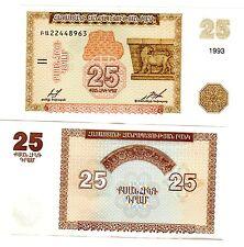 Armenie ARMENIA Billet 25 DRAM 1993 P34 LION EREBUNI CASTLE NEUF UNC