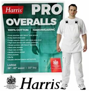 Harris Professional Overalls Painters Bib and Brace Dungaree Decorators Workwear