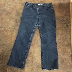 """Chicos Platinum Jeans Size 2 Short Denim Blue Bootcut Leg Sz L 5 Pocket 28"""""""