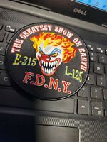 VINTAGE FDNY  PATCH EIGINE 315-- LADDER 125--SIZE 4 1/2 INCHES  FDNY SEE STORE