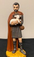 Vintage Holland Mold Standing Shepard & Sheep NATIVITY FIGURE CHRISTMAS