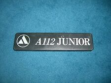 Emblem Badge Autobianchi A 112 Junior ca. 15 x 3,5 cm