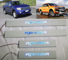 NEW SCUFF PLATE BLUE LED TRIM FOR FORD RANGER XLT WILDTRAK T6 2012+ 13 14 15 16