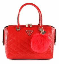 GUESS bolso Astrid Box Satchel Red