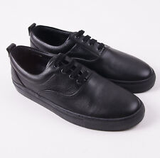 NIB $280 SURFACE TO AIR Black Soft Grained Leather Sneakers 11 (Eu 44) Shoes