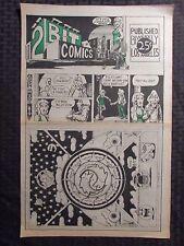 1970's 2 BIT COMICS #nn VG/VG+ Underground Comic Newspaper 8pgs R.K. Sloane