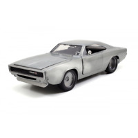 Fast and Furious 7 1968 Dodge Charger R/T Bare Metal 1:24 Scale Jada