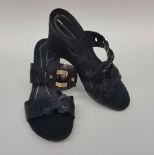 Rockport Shoes Sandals Wedges Heels Slip On Black Womens Size 7.5 M