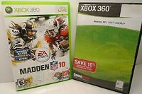 Madden NFL 10 & Madden NFL 2007 - Lot of 2 XBOX 360 Video Game