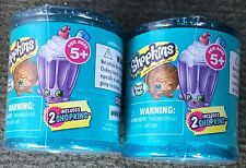 Set of 2 NEW SHOPKINS FOOD FAIR SEASON 4 BLIND CANDY JAR CANISTER WITH 2 FIGURES