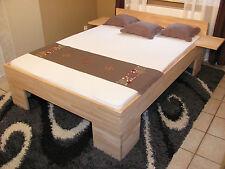 Vollholzbett Buche Massivholz Bett 200x200 FußII Doppelbett Ehebett Seniorenbett