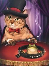 """Still Up to the Same Old Tricks!"" BIRTHDAY CARD Avanti NAUGHTY CAT MAGICIAN"
