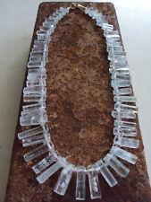 einzigartige  Aquamarin Natur-Kristall-Kette, Unikat mit Herkimer - Diamanten