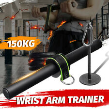 Forearm Wrist Roller Workout Hand Arm Grip Weight  Fitness Strength Training