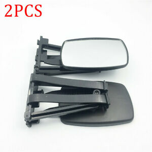 2PCS Heavy Big Size Trailer Towing Mirror Clip-on Mirror Extension Towing Glass