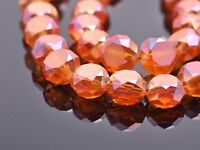 10pcs 14X8mm Rondelle Drum Faceted Crystal Glass Loose Spacer Beads Wine Red