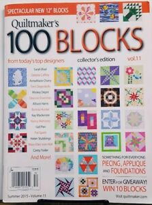 Quiltmaker's 100 Blocks Summer 2015 Volume 11 FREE SHIPPING CB