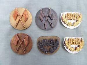 6 Australian Army Militia Qualification Badges 1930/42 Era + 21 Split Pins