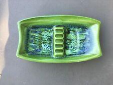 California Pottery Maddux Green/Blue Ashtray # 707 MCM