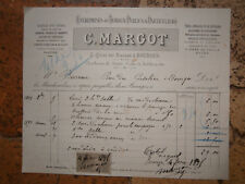 FACTURE ANCIENNE bourges cher c margot charbons coke 1895
