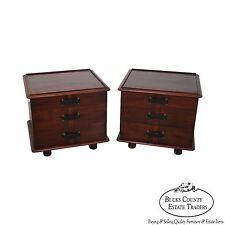 Paul Frankl Mahogany Station Wagon Pair Of Nightstands By Johnson Furniture