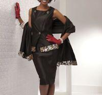 plus sz 16W Joanelle Skirt Church Suit by Ashro bonus wrap new