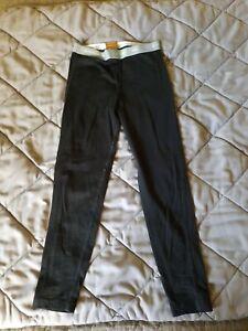 Icebreaker Merino Lightweight Base Layer Pants Bottoms Black Youth 7-8 Years