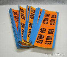 """Lot of (116) Vinyl Cloth """"550 Volts"""" Conduit & Voltage Markers, 4-1/2"""" X 1-1/8"""""""