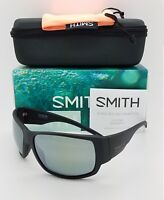 NEW Smith Dockside Sunglasses Matte Black ChromaPop Polarized Platinum $219 NIB