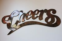"""Cheers   Metal Wall Art Accents 6"""" tall x 13 1/2"""" wide"""