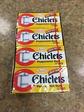 DISCONTINUED Chiclets Adams the Original Coated Gum Peppermint - 1 Box W 20 PKGS