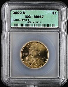 2000 P & D $1 Sacagawea Dollar ICG MS67 Set of 2 Coins