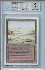 MTG Revised Dual Land Badlands BGS 9.0 (9)  Mint Magic Card  WOTC 9389