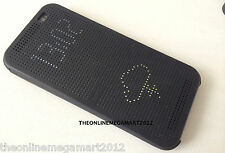 Imported Black DOT View Smart Interactive Flip Case,Cover for HTC Desire Eye