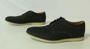 Clarks Men's Raharto Plain Oxford Lace Up Dress Shoes FR7 Blue Nubuck Size US:10