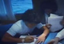 Maradona Copia contratto DIEGO MARADONA a NAPOLI 1984