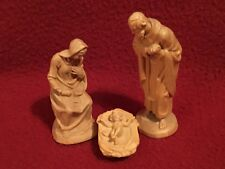"""Vintage Kuolt Anri Wood Carved Nativity """"Holy Family"""" approx. 2.25""""-3"""" (3 pc.)"""