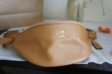 NWT COACH F48738 Pebble Leather Belt Bag Fanny Pack Light Saddle $298