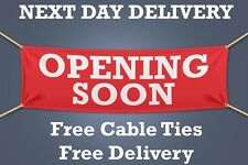 OPENING SOON PVC Banner OUTDOOR SIGN Retail - 1.5m WIDE - NEXT DAY DELIVERY