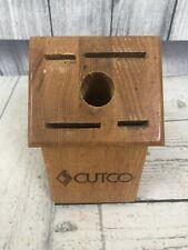 New listing Cutco Wooden Gourmet Knife Cutlery Block 4 Slots 1 Hole Honey Oak - Made in Usa