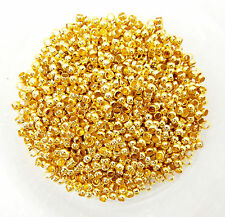 100 Gold Plated Crimp Beads 3mm End Beads Jewellery Findings J01252y